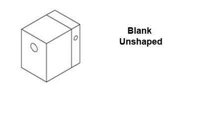 Welding Shoe Blank 45x45 for 1507-6007, Exon 3A