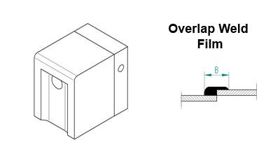 Welding Shoe Overlap (film weld) 25mm for Mini